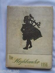 1956 Highland High School Yearbook Anderson, Indiana The Highlander