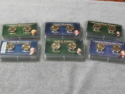 24 Presidential 2 Coin Sets 2007 Thru 2012-free Shipping
