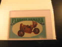 1970 Topps Way Out Wheels Proof Flushes Yamaha