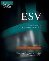 Wide Margin Reference Bible-esv English Standard Version English Leather Book