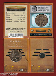 10 X 2006 Australia 50yrs Of Television 1 Unc Coin And039tvand039 Privy Mark Wholesale