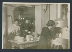 1910 Edwardian College Girls Making Pottery Newcomb College Vintage Photo Set