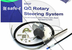 10ft Teleflex Safe-t Ss13710 Quick Connect Boat Rotary Steering Cable And Helm Kit