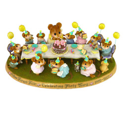Wee Forest Folk 40th Anniversary Signed Limited Edition Mouse Figurine