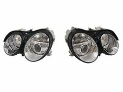 Pair Left And Right Genuine Oem New Hella Xenon Headlights For Mercedes Cl Class
