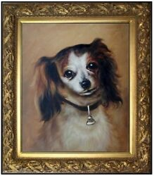 Framed Hand Painted Oil Painting Repro Auguste Renoir Head Of A Dog 20x24in