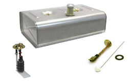 Universal Stainless Steel 16 Gallon Fuel Injection Gas Tank Combo Sender And Pump
