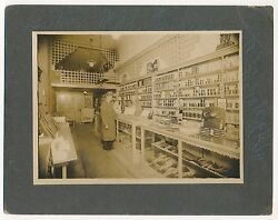 1890and039s Oklahoma Paint Store Vintage Cabinet Photo Store Displays And Products