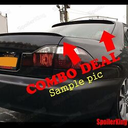 Combo Rear Roof Wing And Trunk Lip Spoiler Fits Nissan Altima 2002-06