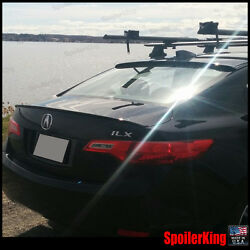 Combo Rear Roof Wing And Trunk Lip Spoiler Fits Acura Ilx 2013-present 284r/244l