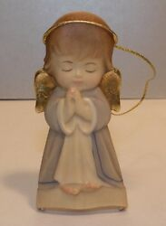New Hanging Guardian Angel - Blue, Wood Figurine From Lepi, Italy