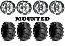 Kit 4 Kenda Executioner Tires 27x10-12/27x12-12 On Itp Ss212 Machined Wheels Irs