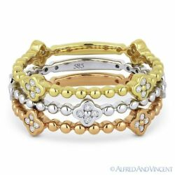 0.35ct Round Cut Diamond Stackable Fashion Rings In 14k White Yellow And Rose Gold