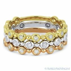 0.33ct Round Cut Diamond Stackable Fashion Rings In 14k White Yellow And Rose Gold