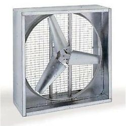 48 Agricultural Exhaust Fan - 18,800 Cfm - 1 Hp - 230/460v - 3ph - Direct Drive