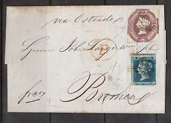 Great Britain 7 And 2p Misperf Used On Folded Letter