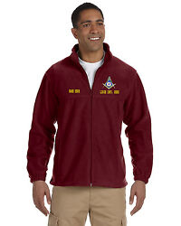 Mason Embroidered Full Zip Fleece Jacket With Lodge Info And Name Free Shipping