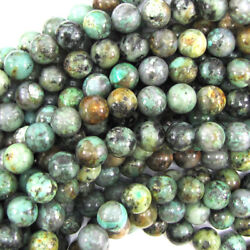 Natural African Turquoise Round Beads 15.5 Strand 4mm 6mm 8mm 10mm 12mm
