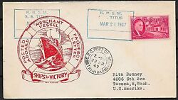 United States Covers 1947 Shipcover Knsm Ss Titus To Tacoma