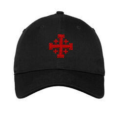Soft Women Baseball Cap Jerusalem Cross B Embroidery Religions Dad Hats for Men $14.99