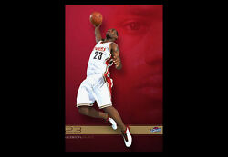 Lebron James Red Dawn Cleveland Cavaliers Rookie Season 2003-04 Slam-dunk Poster