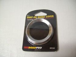 Lot Of 3 Roadpro 2-1/4 Snap-on Gauge Covers For Peterbilt Rp8162
