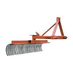 Landscape Rake - 3 Point Hitch Mounted - 60 Wide - Commercial Duty - Usa Made