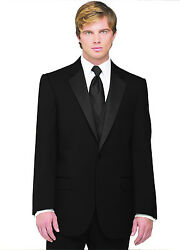 Sizes 35-64 Long. 6-piece Complete Tuxedo Package W/flat Front Pants, Vest And Tie