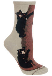 Wheel House Designs - Climbing Bear Socks - Childs 6-8.5