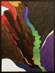 Clare Romano Deep Canyon Signed Numbered Collagraph Artwork, Make Offer