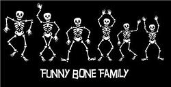 Skeleton Family Decals Sticker Custom Made Personalized