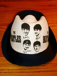 Beatles 1964 Navy Blue Beach Hat  Original Store Stock  Awesome
