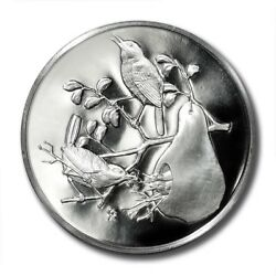 Franklin Mint 51mm Medal Roberts Birds 1973 House Wren Proof Almost 2oz Pure Sil