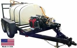 Trailer Mounted SPRAYER - 500 Gallon Tank - 20 Hp Honda GX630 - 35 GPM - 700 PSI