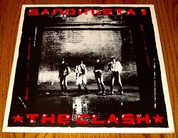 The Clash Sandinista Original 3 Record Set With Poster 1980