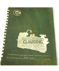 Clausing Colchester Instruction And Spare Parts Manual W-4-box 9-2-rct