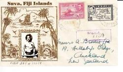 Fiji Sg251,260-die Iscarce-first Day-suva 5/apr/38-illustrated Cachet