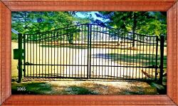 On Sale 16and039 Wide Steel Driveway Gate Home Yard Garden Home Residential Security