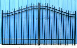 Wrought Iron Style Steel Driveway Gate 11 Ft Wd Ds Incl Post Package Residential