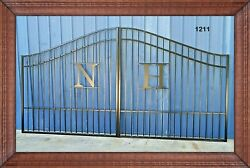 Veteran Discount Inc Post Pkg Driveway Gate 11and039 Or 12and039 Wd Steel Home Security