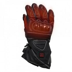 VENTURE - HEATED Motorcycle Motorbike Carbon Winter Gloves - PLUGGED INTO BIKE