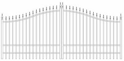 Custom Built Steel Driveway Gate 14 Foot Wd Ds Includes Post Pkg. Residential