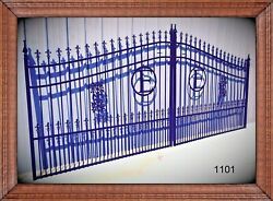 Driveway Gate 1101 14andrsquo Ft Wd Ds Inc Post Package Steel / Iron Home Security