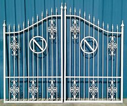 Wrought Iron Style, Steel Driveway Gate 10 Ft Wd Dual Residential Home Security