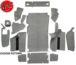 1964 Thunderbird Convertible Fleece Trunk Liner Kit W/ Boards Quality Ford