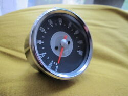 Quality Tachometer In Black Casing Grey Face 31 Ratio Tacho Classic Motorcycle