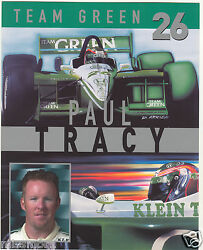 Paul Tracy 2002 Team Green Klein Racing Promotional Picture Signature Card 26