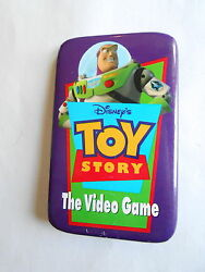 Cool Vintage Disney's Toy Story The Video Game Advertising Promo Pinback