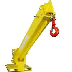Titan Attachments Crane For Skid Steers And Forklift Jib Boom 6000 Lb Capacity