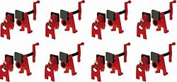 8 Ea Bessey Tools Bpc-h34 3/4 H Style Woodworking Pipe Clamps W High Base